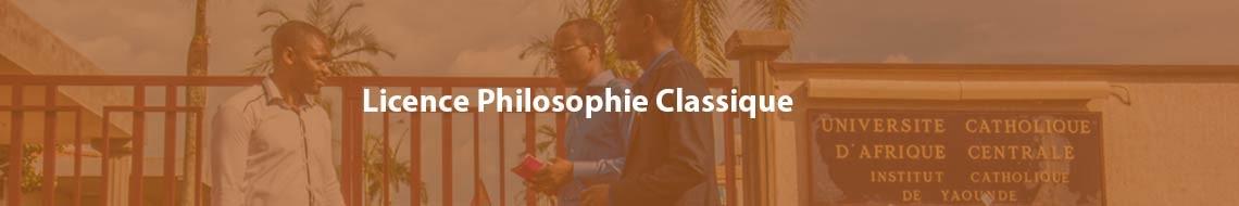 Licence Philosophie Classique