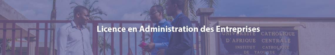Licence en Administration des Entreprises