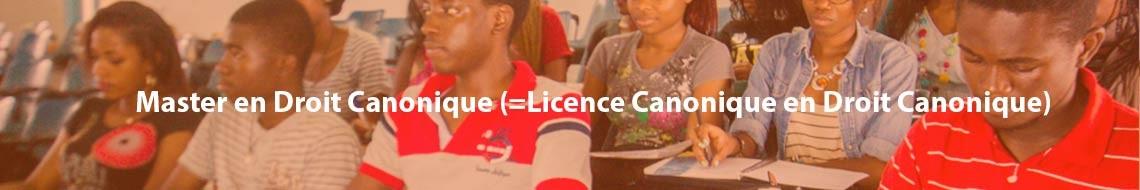 Master en Droit Canonique (=Licence Canonique en Droit Canonique)