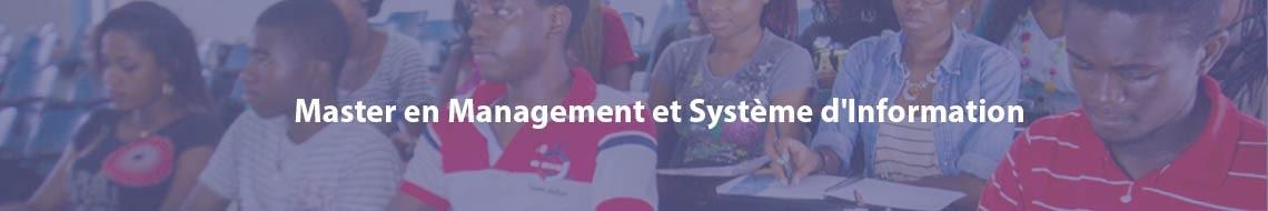 Master en Management et Système d'Information