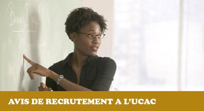 Recrutement d'enseignants à l'UCAC