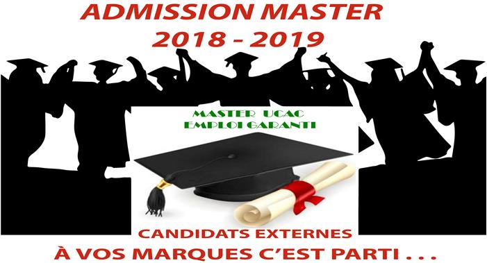 Avis de recrutement  en Master 2018 - 2019