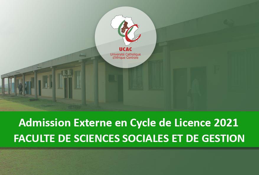 Admission Externe en Cycle de Licence de la FSSG-UCAC 2021