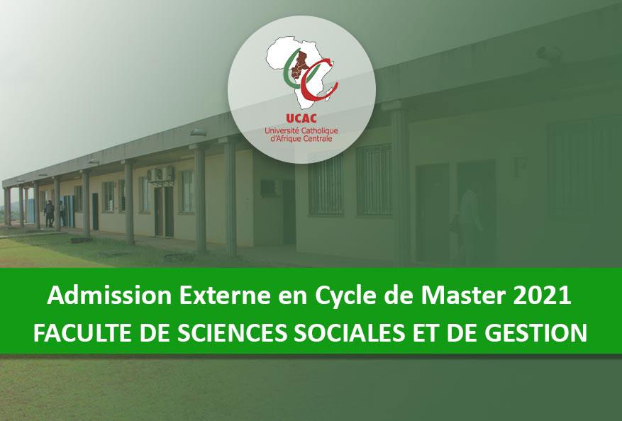 Admission Externe en Cycle de Master de la FSSG-UCAC 2021