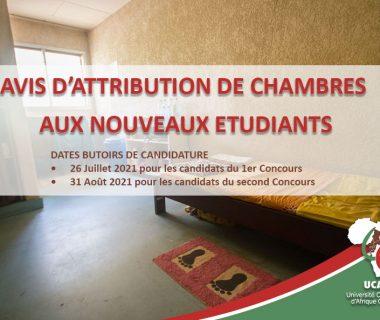 AVIS D'ATTRIBUTION DE CHAMBRES AUX NOUVEAUX ETUDIANTS