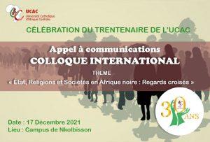 CÉLÉBRATION DU TRENTENAIRE-DE-L'UCAC Colloque international
