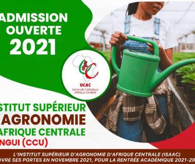 Concours d'entrée l'Institut Supérieur d'Agronomie d'Afrique Centrale (ISAAC)
