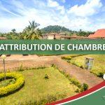AVIS D'ATTRIBUTION DE CHAMBRES