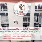 Appel à candidature externe Master - Faculté de Sciences Juridiques et Politiques (FSJP)